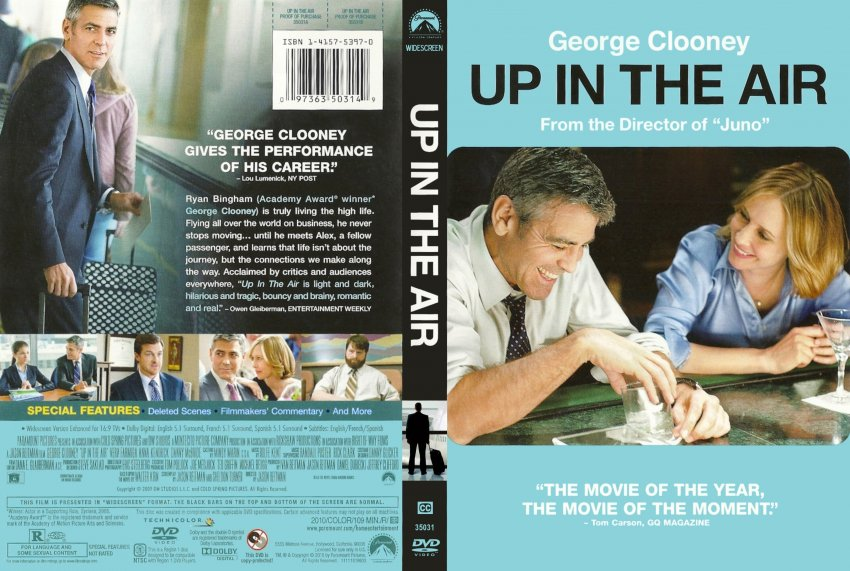 Up in the air movie dvd scanned covers upintheair 2009 cover