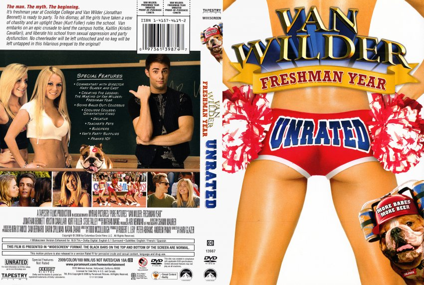 Van Wilder Freshman Year Unrated - Movie DVD Scanned Covers - Van ...