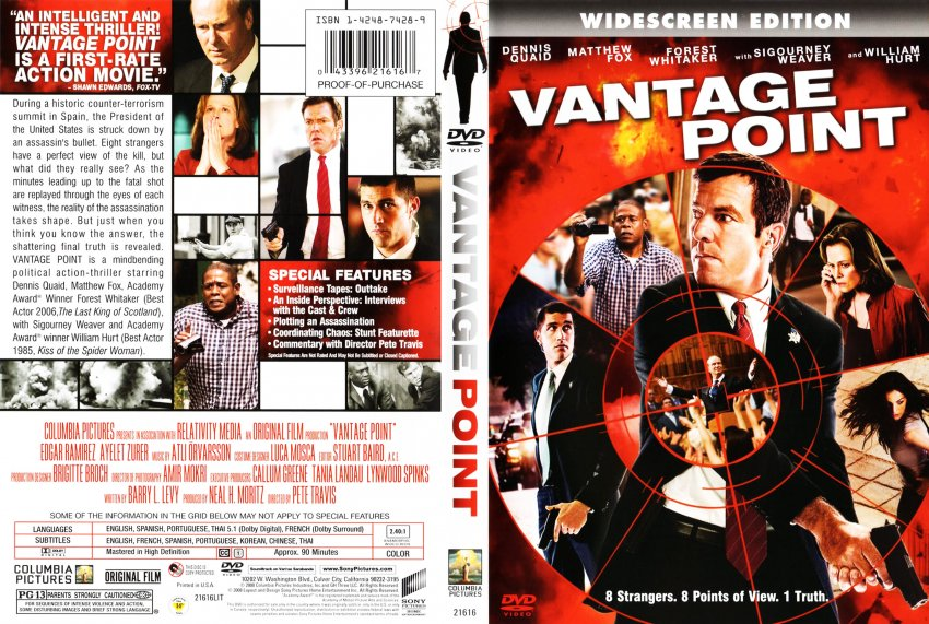 Vantage Point - Movie DVD Scanned Covers - Vantage Point f ...