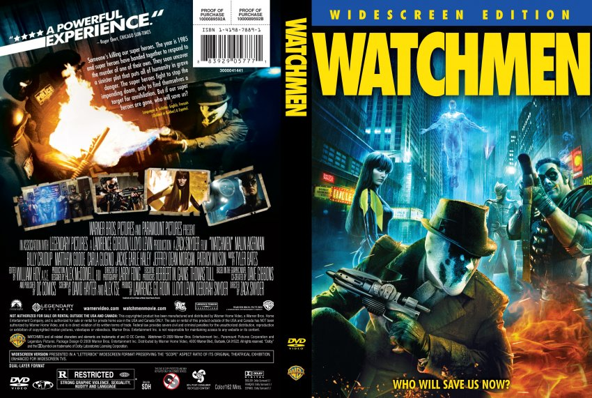 Watchmen - Movie DVD Scanned Covers - Watchmen3 :: DVD Covers