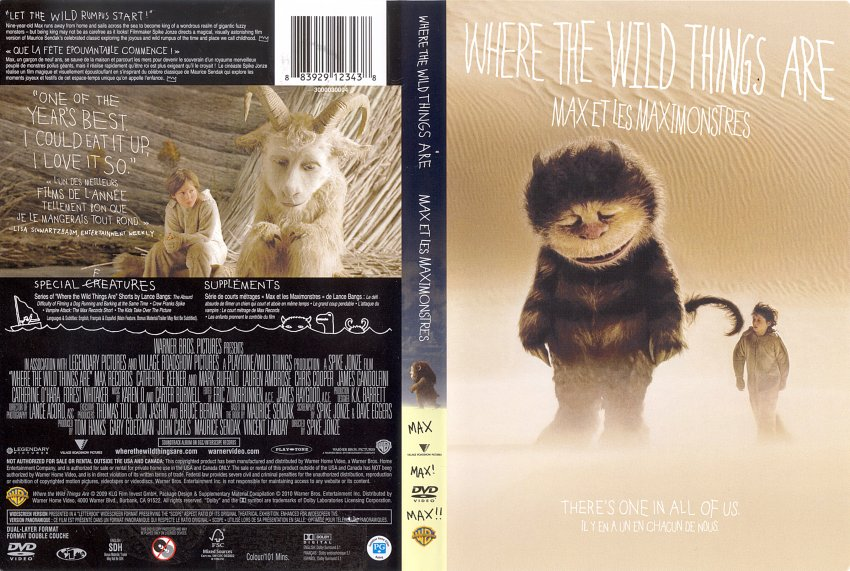 Where The Wild Things Are - Movie DVD Scanned Covers ...
