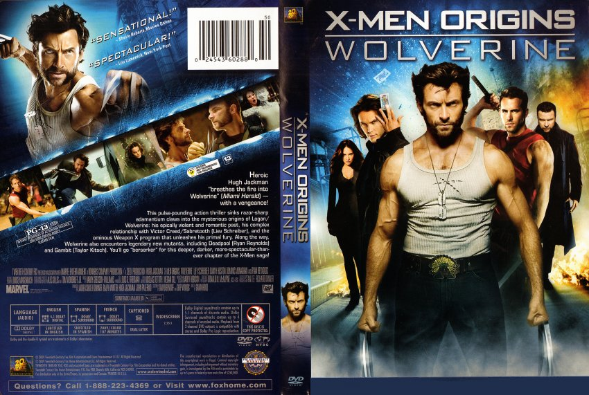 X Men Dvd Cover: X-Men Origins-Wolverine Movie From W3 By Trivto On DeviantArt