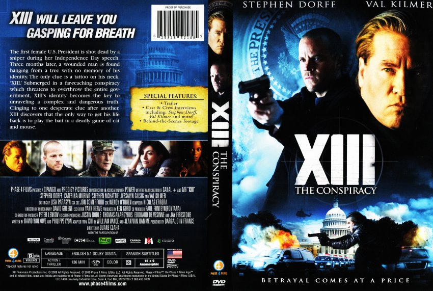 xiii the conspiracy movie dvd scanned covers xiii the