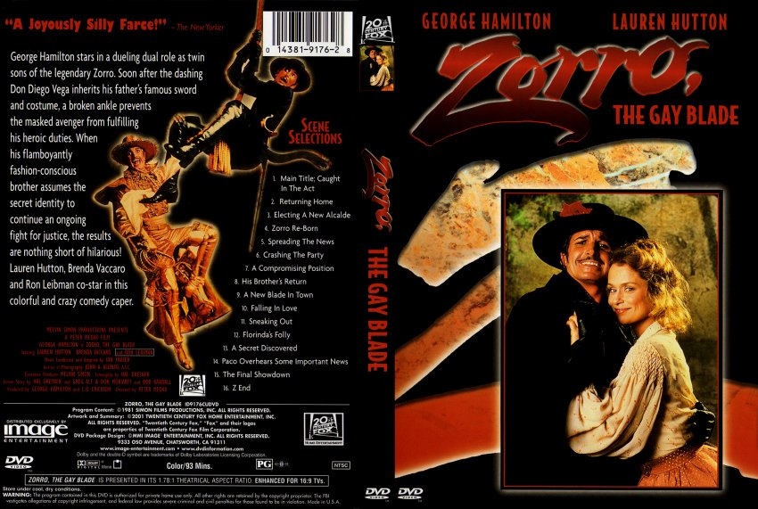 Zorro The Gay Blade Dvd 96