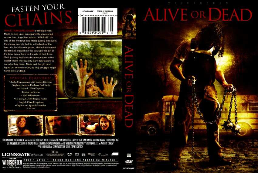 alive or dead movie dvd scanned covers alive or dead