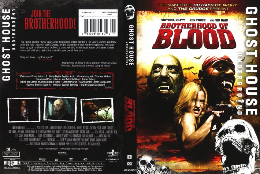 Brotherhood of Blood - Movie DVD Scanned Covers - ghost house ...