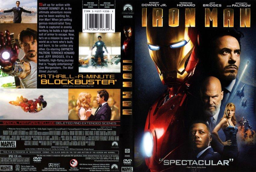 Iron ManIron Man Dvd Cover Art
