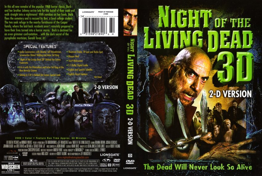 Night of the living dead 3 d movie dvd scanned covers night3d