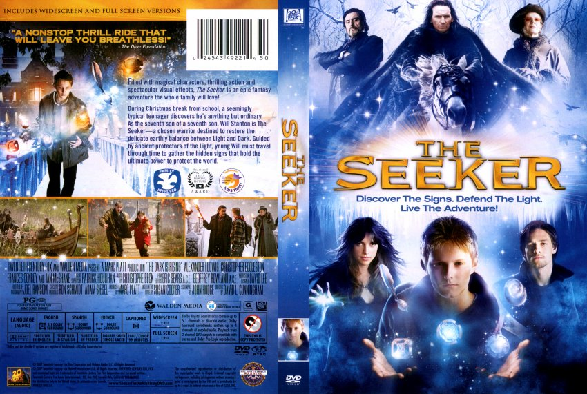 the seeker the dark is rising movie dvd scanned covers