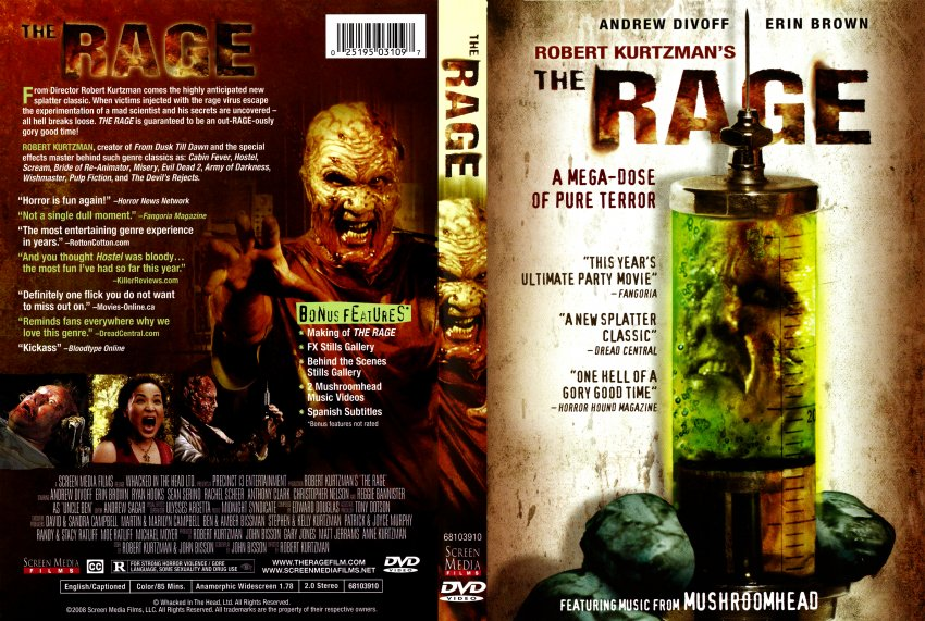 the rage movie dvd scanned covers the rage dvd covers