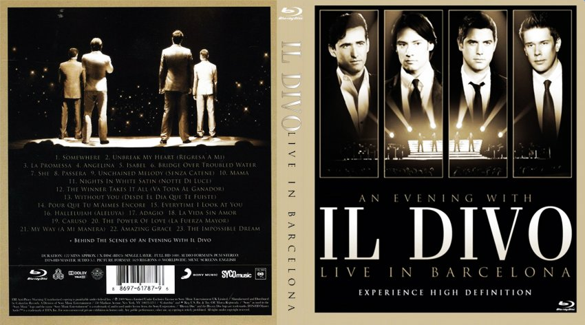 An evening with il divo live in barcelona movie blu - An evening with il divo ...