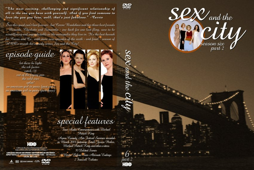 Sex and the City Season 6- TV DVD Custom Covers - 1184sexandcity s62 00767