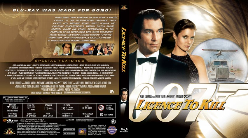 Licence to Kill - Movie Blu-Ray Scanned Covers - James ...