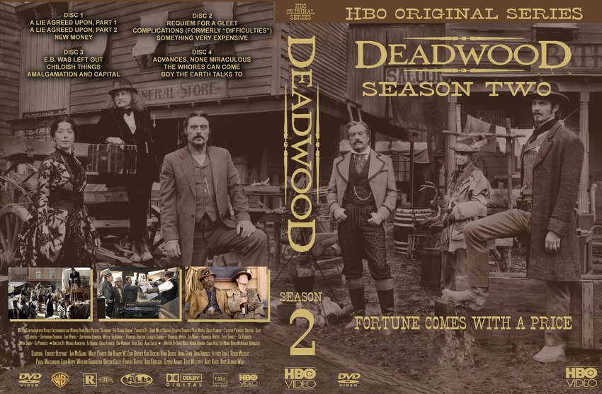 Update deadwood s2 cstm tv dvd custom covers 150deadwoods2cstm
