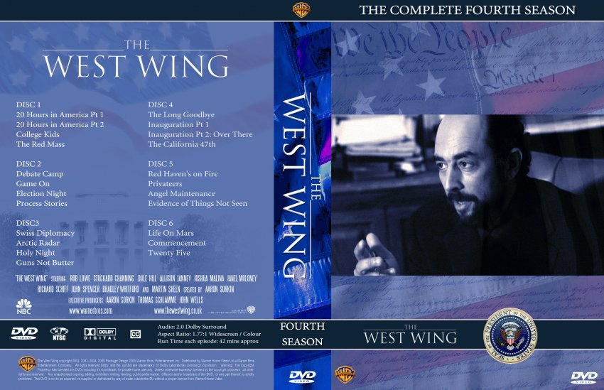 the west wing season 4 tv dvd custom covers 1860thewestwing seizoen4 dvd covers. Black Bedroom Furniture Sets. Home Design Ideas
