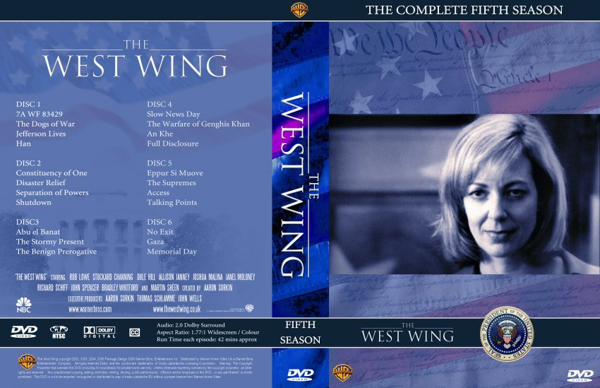 the west wing season 5 tv dvd custom covers 1860thewestwing seizoen5 dvd covers. Black Bedroom Furniture Sets. Home Design Ideas
