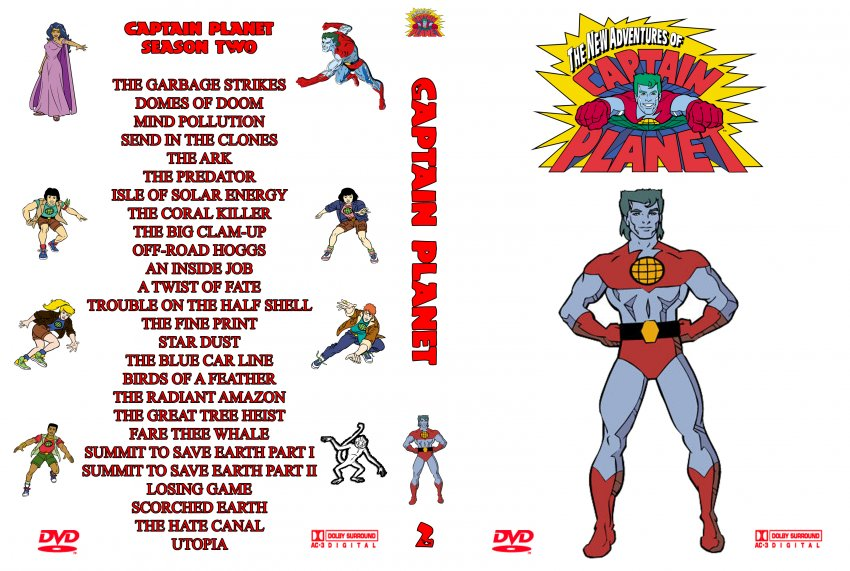 Captain Planet season 2 - TV DVD Custom Covers - 2289CP S2 ...