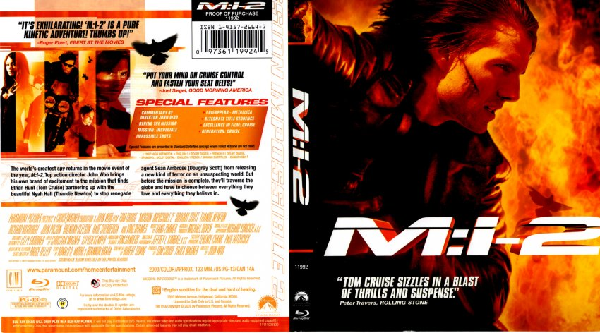 Mission impossible 3 dvd cover