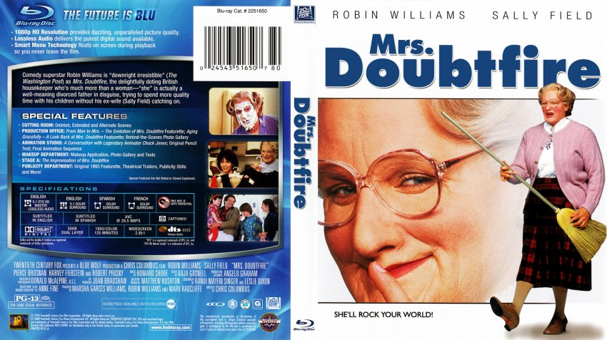 mrs doubtfire dvd cover