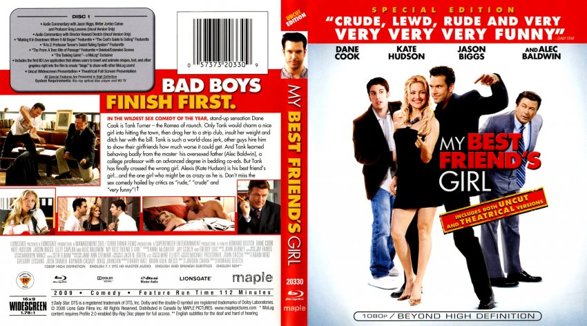 my best friends girl movie bluray scanned covers my