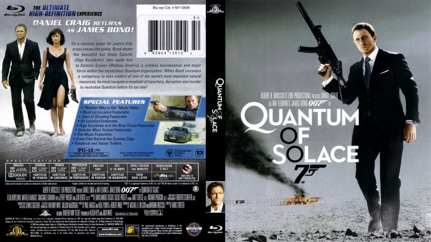 Quantum of Solace - Movie Blu-Ray Scanned Covers - Quantum ...