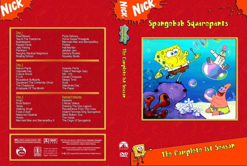 Spongebob Seasons Dvd Spongebob Squarepants Season 1