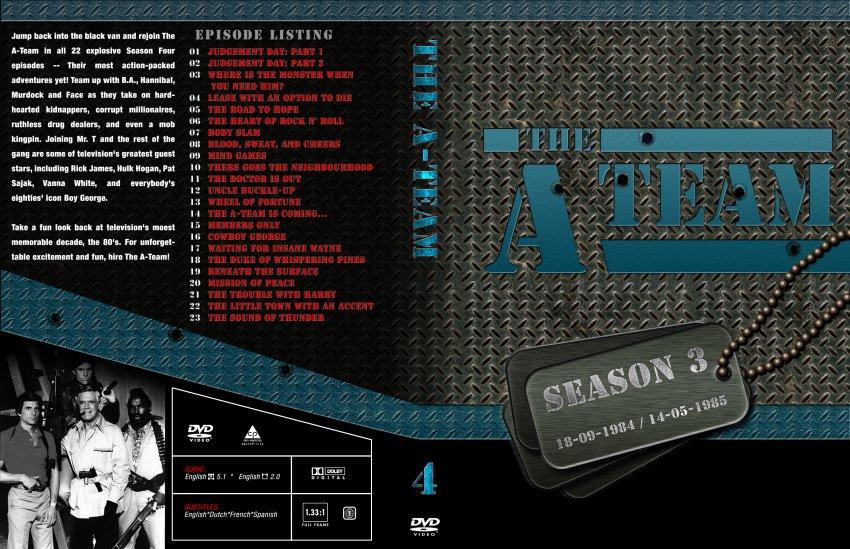 The A-Team Season 4 - TV DVD Custom Covers - 7785r1 ateam full se4