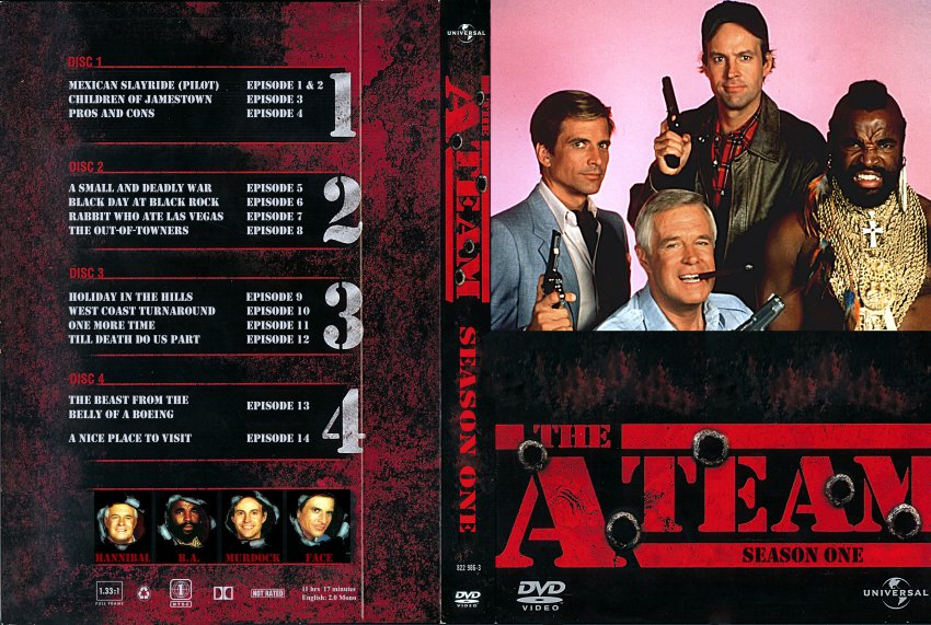 A-Team Season 1 - TV DVD Custom Covers - 882A-Team S1 SINGLE CASE