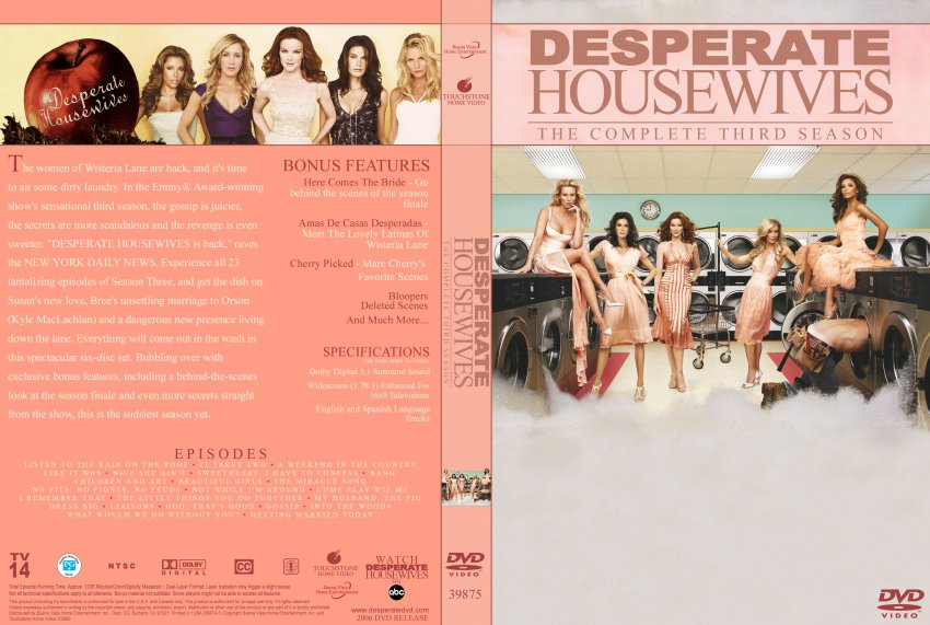 desperate housewives season 3 tv dvd custom covers. Black Bedroom Furniture Sets. Home Design Ideas