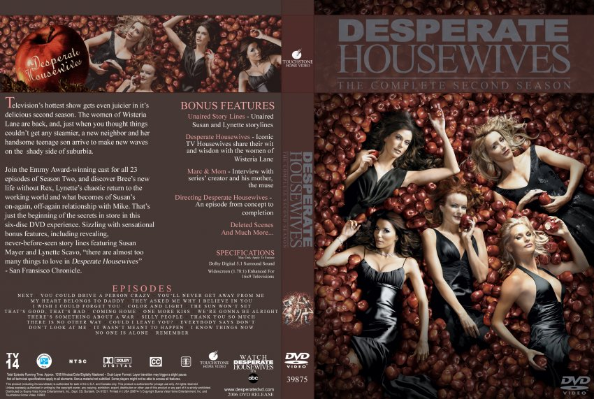 desperate housewives season 2 tv dvd custom covers 9483newseason two single dvd covers. Black Bedroom Furniture Sets. Home Design Ideas