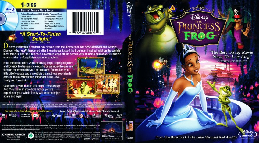 The Princess And The Frog - Movie Blu-Ray Scanned Covers ...