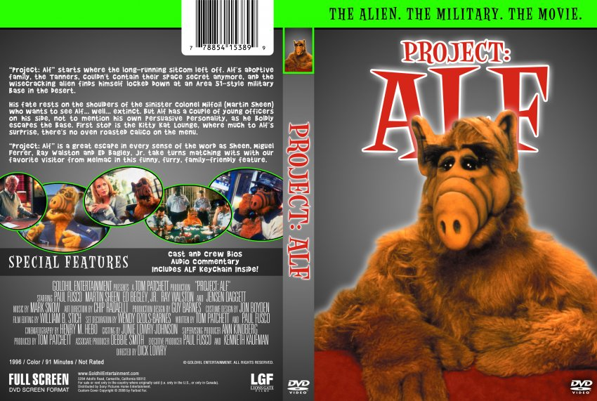 project alf This made-for-television comedy picks up where the tv series alf left off on his way home, alf is captured by the military and forced to undergo experiments commanded by col gilbert milfoil two.