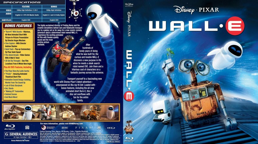 walle cover scan blu ray movie bluray scanned covers