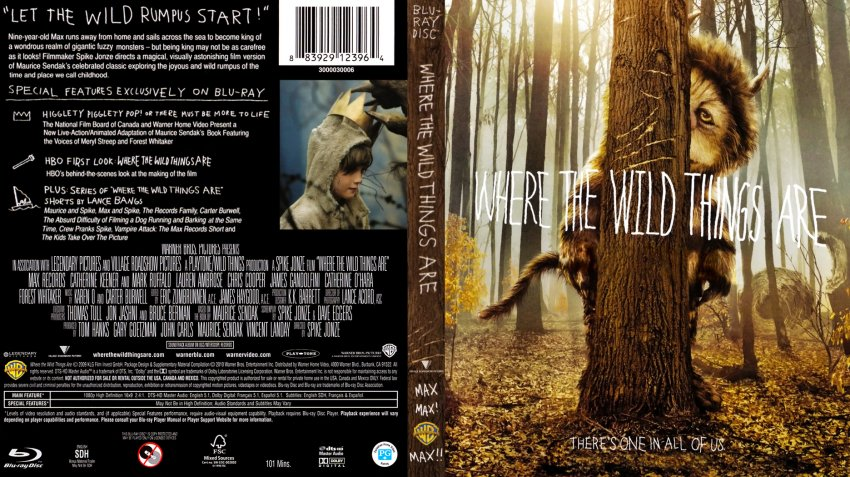 Where The Wild Things Are - Movie Blu-Ray Scanned Covers ...
