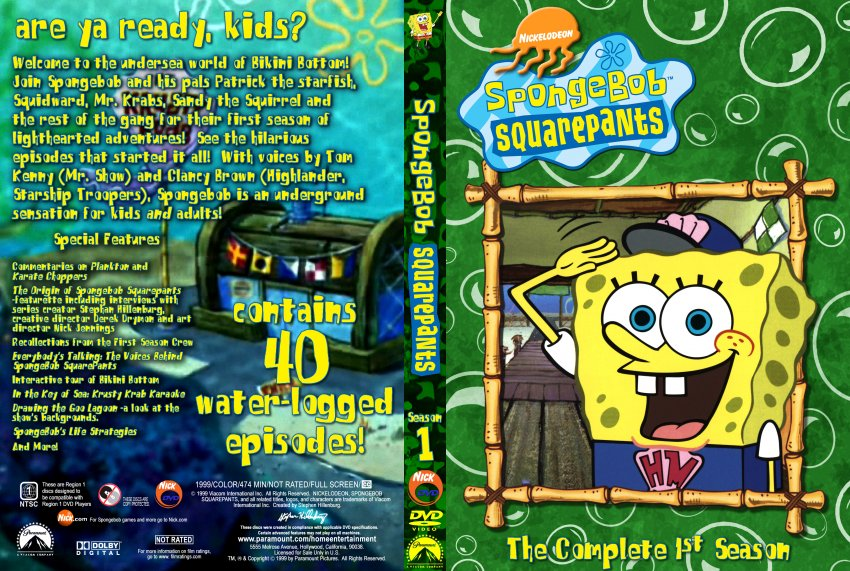 Spongebob SquarePants the Complete 1st Season DVD