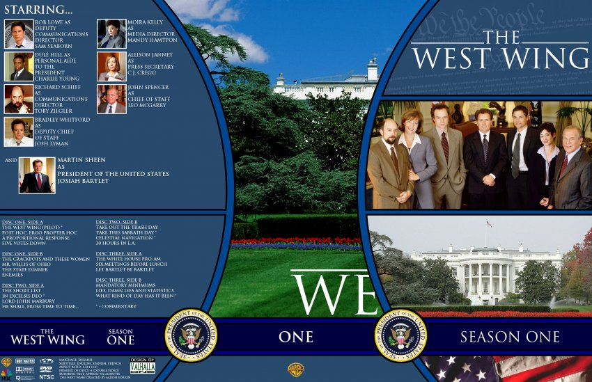 the west wing season 1 tv dvd custom covers ww1 dvd covers. Black Bedroom Furniture Sets. Home Design Ideas