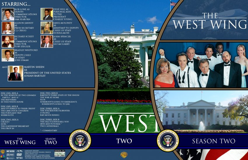 the west wing season 2 tv dvd custom covers ww21 dvd covers. Black Bedroom Furniture Sets. Home Design Ideas