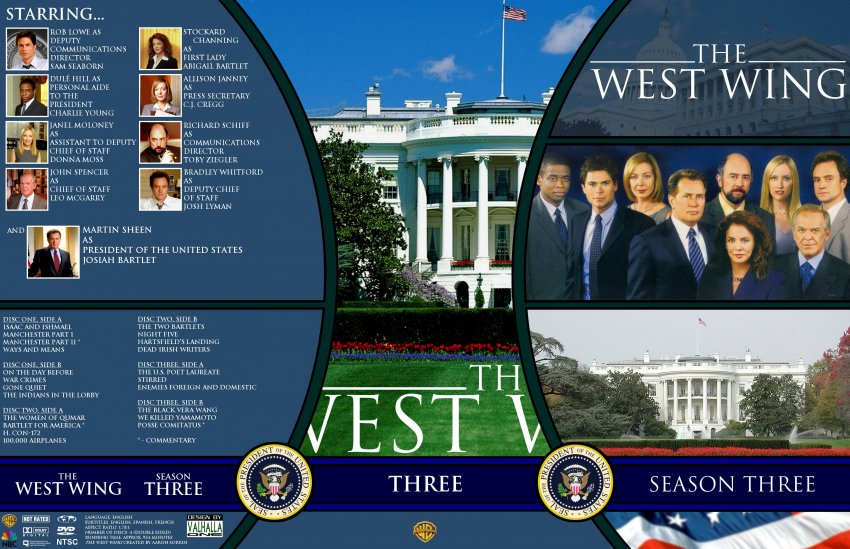 the west wing season 3 tv dvd custom covers ww3 dvd covers. Black Bedroom Furniture Sets. Home Design Ideas