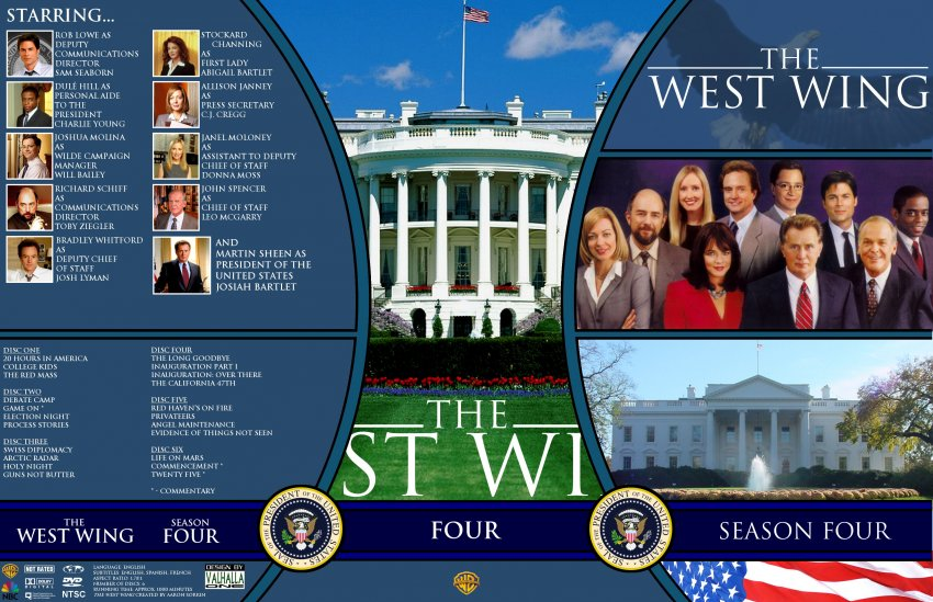 the west wing season 4 tv dvd custom covers ww4 dvd covers. Black Bedroom Furniture Sets. Home Design Ideas