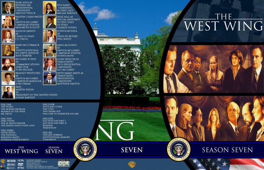 the west wing season 7 tv dvd custom covers ww7 dvd covers. Black Bedroom Furniture Sets. Home Design Ideas