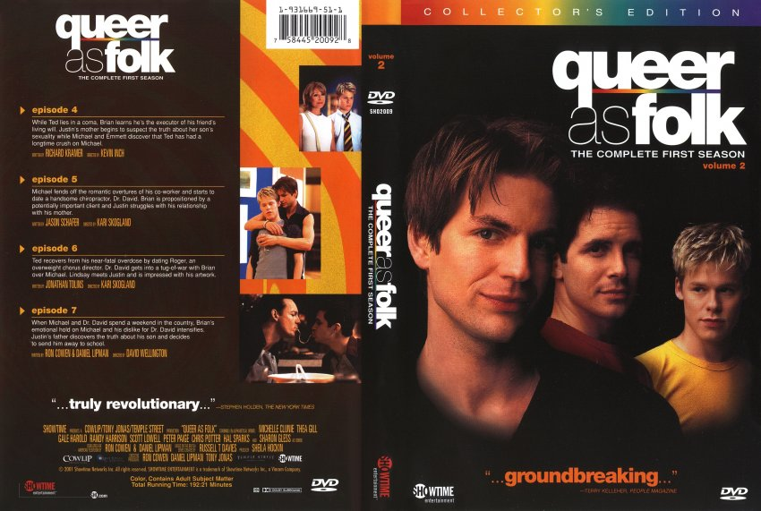 As Folk  Season 1 Disc 2  TV DVD Scanned Covers  1322Queer As Folk