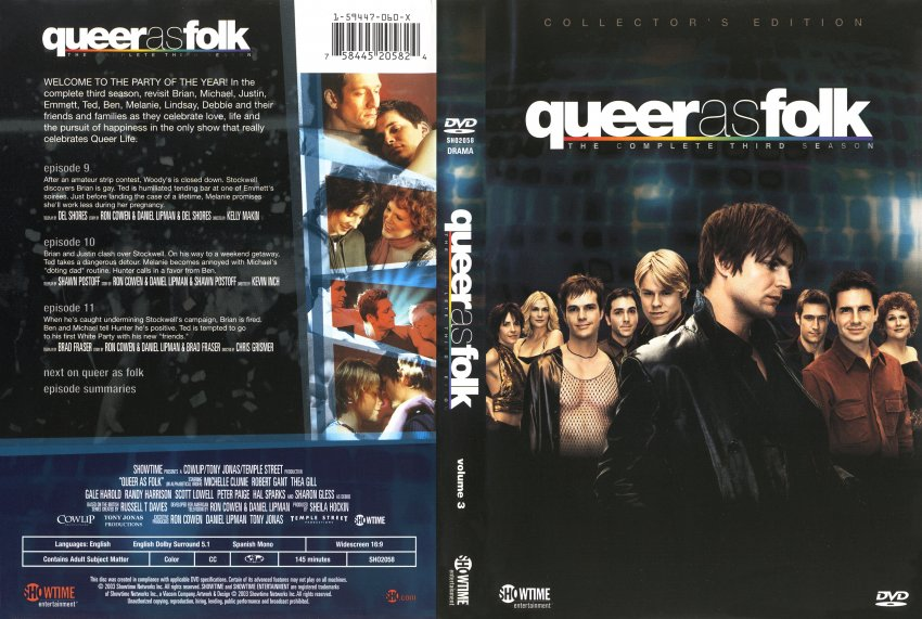 As Folk  Season 3 Disc 3  TV DVD Scanned Covers  1322Queer As Folk