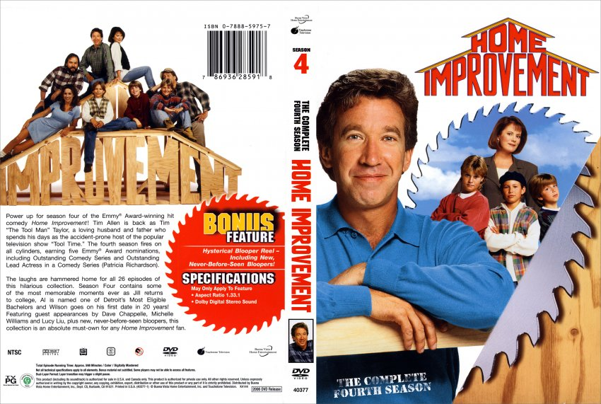 Remarkable Home Improvement Season 4 DVD Cover 850 x 571 · 141 kB · jpeg