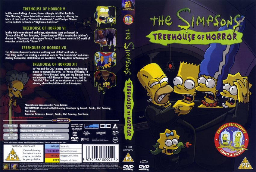 the simpsons treehouse of horrors - TV DVD Scanned Covers