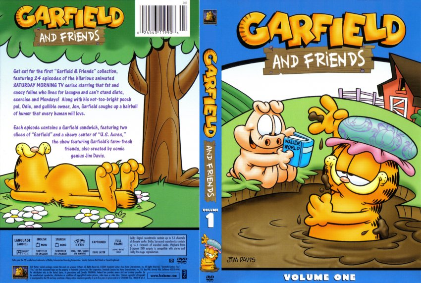garfield and friends season one tv dvd scanned covers