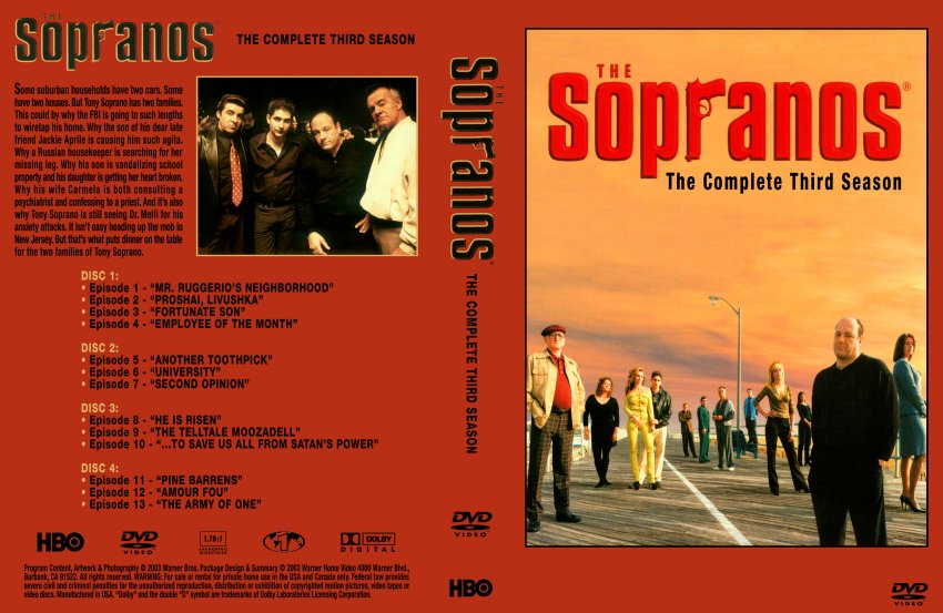 The Sopranos Season 3 Dvd Related Keywords & Suggestions