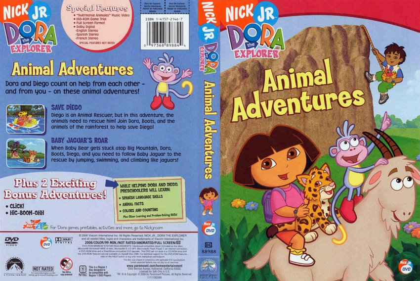 Dora The Explorer Animal Adventures - TV DVD Scanned ...