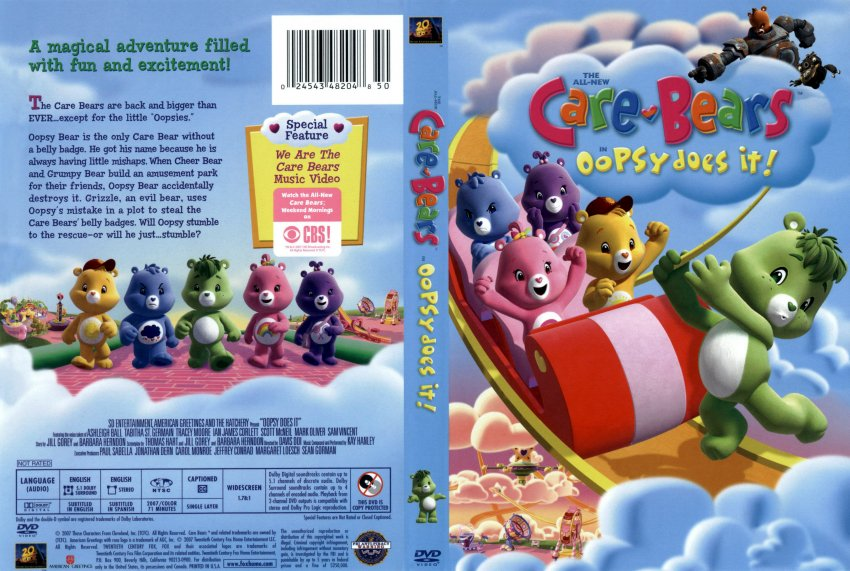 Care Bears: Oopsy Does It! Care Bears Oopsy Does It TV DVD Scanned Covers CareBears