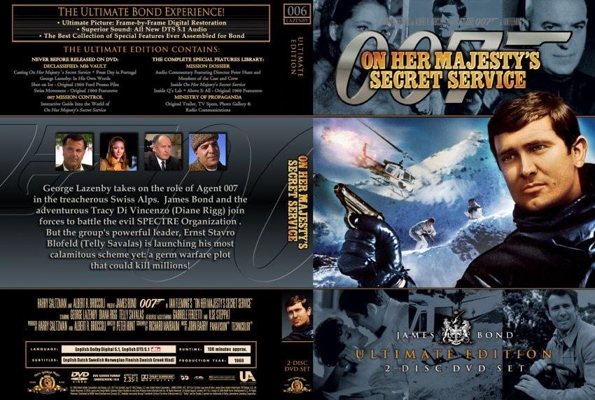On Her Majesty's Secret Service - Movie DVD Custom Covers ...