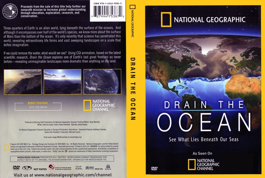 National geograghic drain the ocean tv dvd scanned for Covers from the ocean